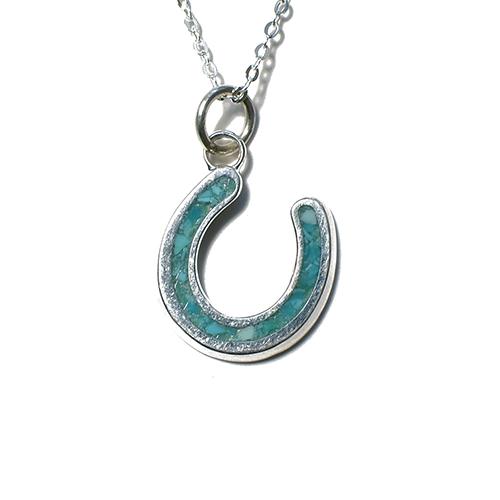 CALIFOLKS Horseshoe Inlay Turquoise Straight Necklace