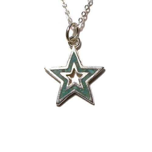 CALIFOLKS Star Donut Inlay Turquoise Necklace