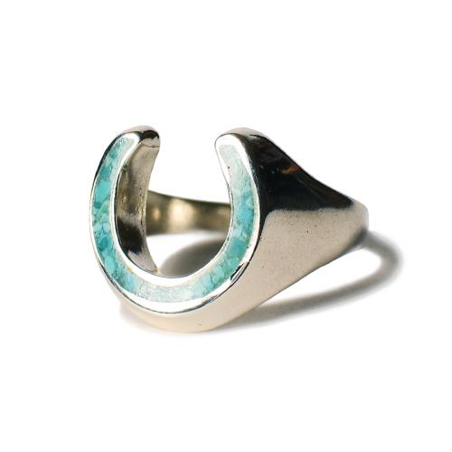 CALIFOLKS Horseshoe Inlay Turquoise Ring