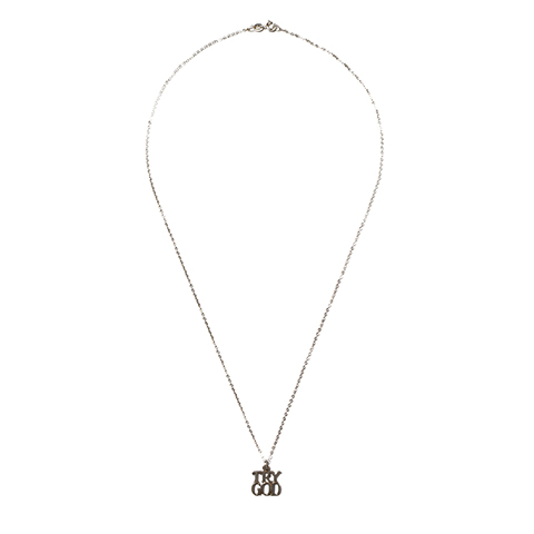 """Tiffany """"Try God"""" Charm with Chain"""