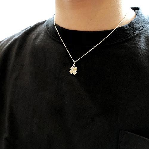 SD Made in USA Clover Necklace Silver