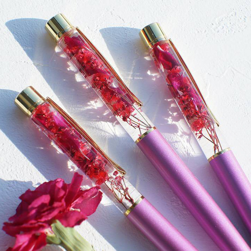 【数量限定・送料無料】母の日限定:ハーバリウムペンとプリン4個のセット プリン専門店の送料無料の母の日セット
