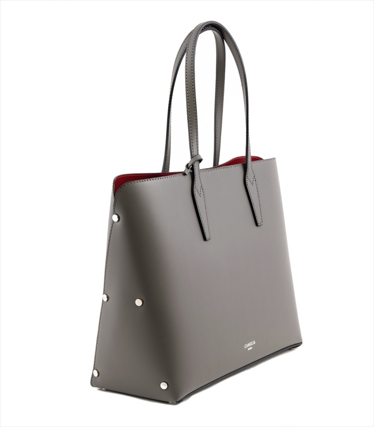 LEATHER TOTE BAG SHOPPING_0001_GR COLOR: GREY