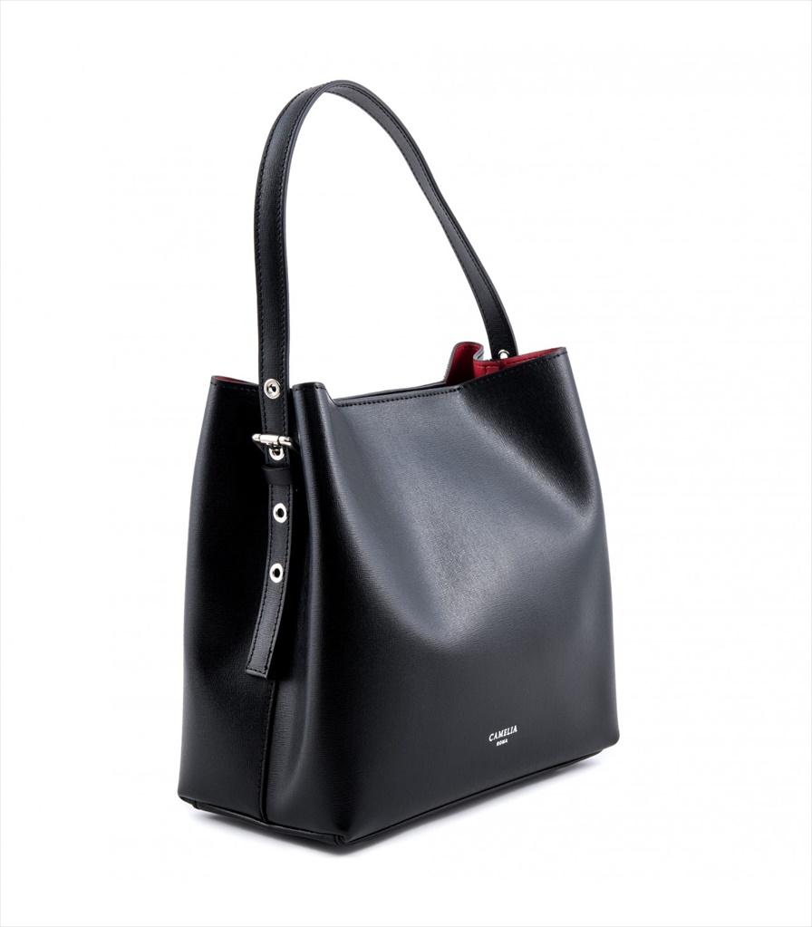 SAFFIANO LEATHER SHOULDER BAG BORSASPALLA_0011_NE COLOR: BLACK