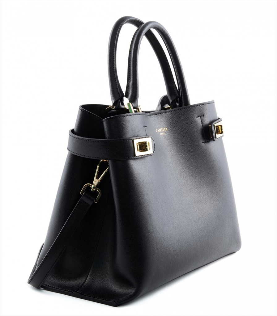SAFFIANO LEATHER HANDBAG BORSAMANO_0037_NE COLOR: BLACK