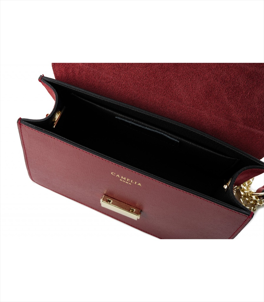 LEATHER AND SUEDE CROSSBODY BAG TRACOLLA_0050_RS COLOR: GARNET