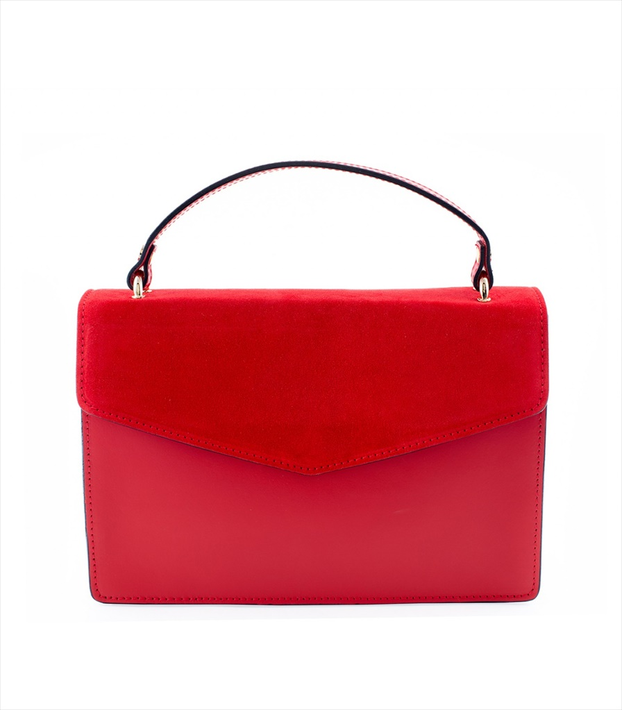 LEATHER AND SUEDE SHOULDER BAG TRACOLLA_0030_RP COLOR: RED