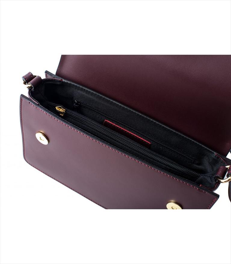 LEATHER MINI BAG TRACOLLA_0035_BO COLOR: RED WINE