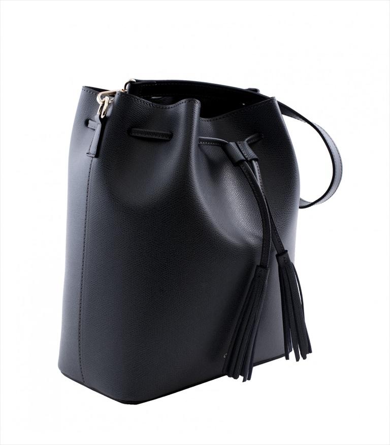 GRAINED LEATHER BUCKET BAG SECCHIELLO_0014_NE COLOR: BLACK