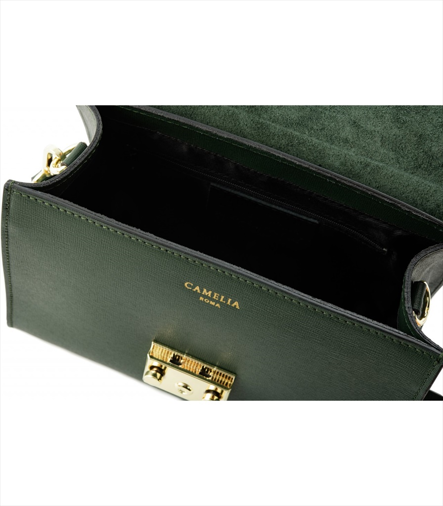 SAFFIANO LEATHER HANDBAG BORSAMANO_0011_VS COLOR: DARK GREEN