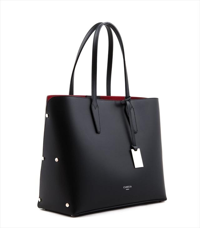 LEATHER TOTE BAG SHOPPING_0001_NE COLOR: BLACK