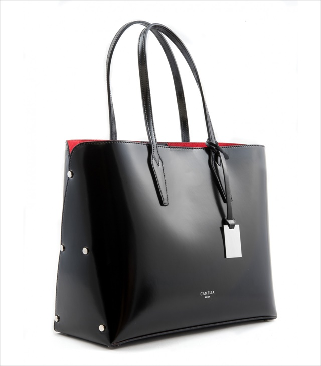 PATENT LEATHER TOTE BAG SHOPPING_0009_NE COLOR: BLACK