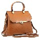 GRAINED LEATHER HANDBAG BORSAMANO_0027_CU COLOR: LIGHT BROWN