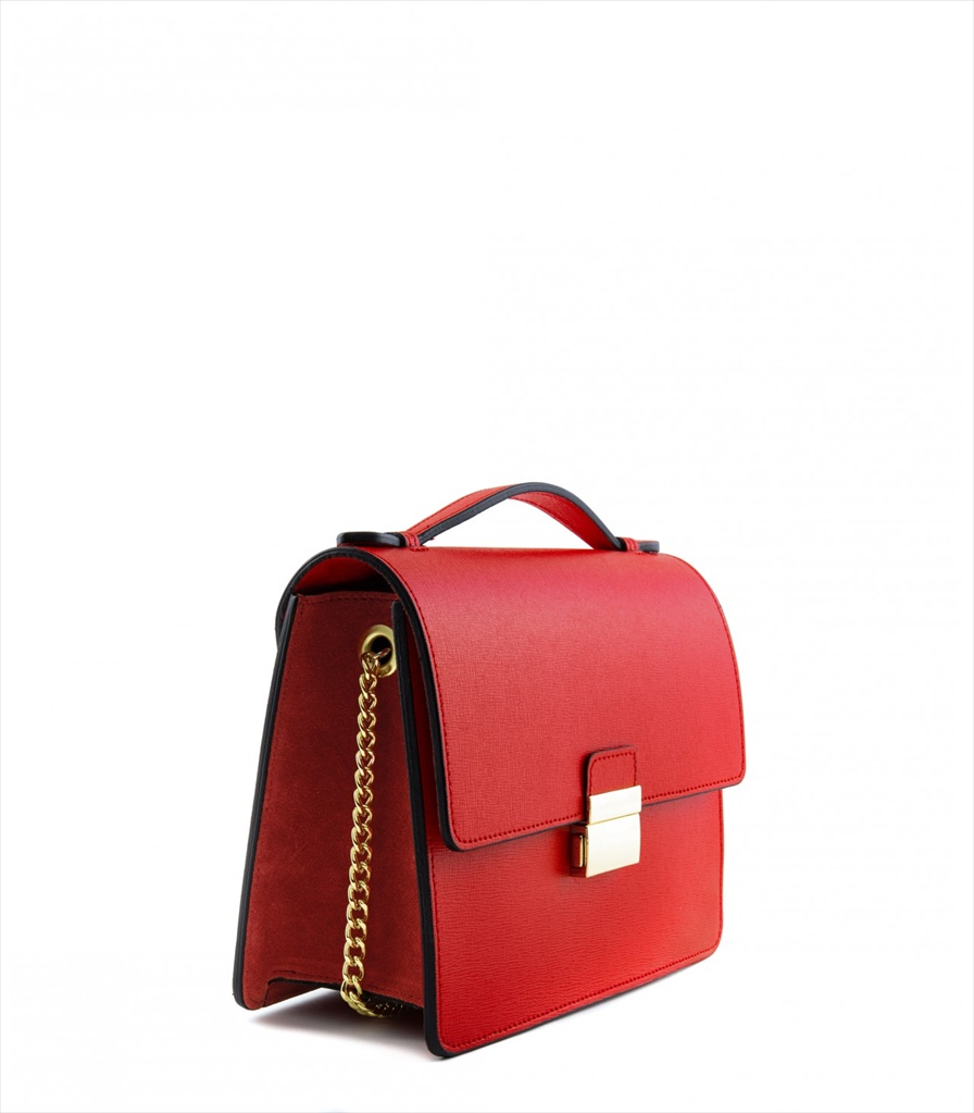 LEATHER AND SUEDE CROSSBODY BAG TRACOLLA_0050_RO COLOR: RED