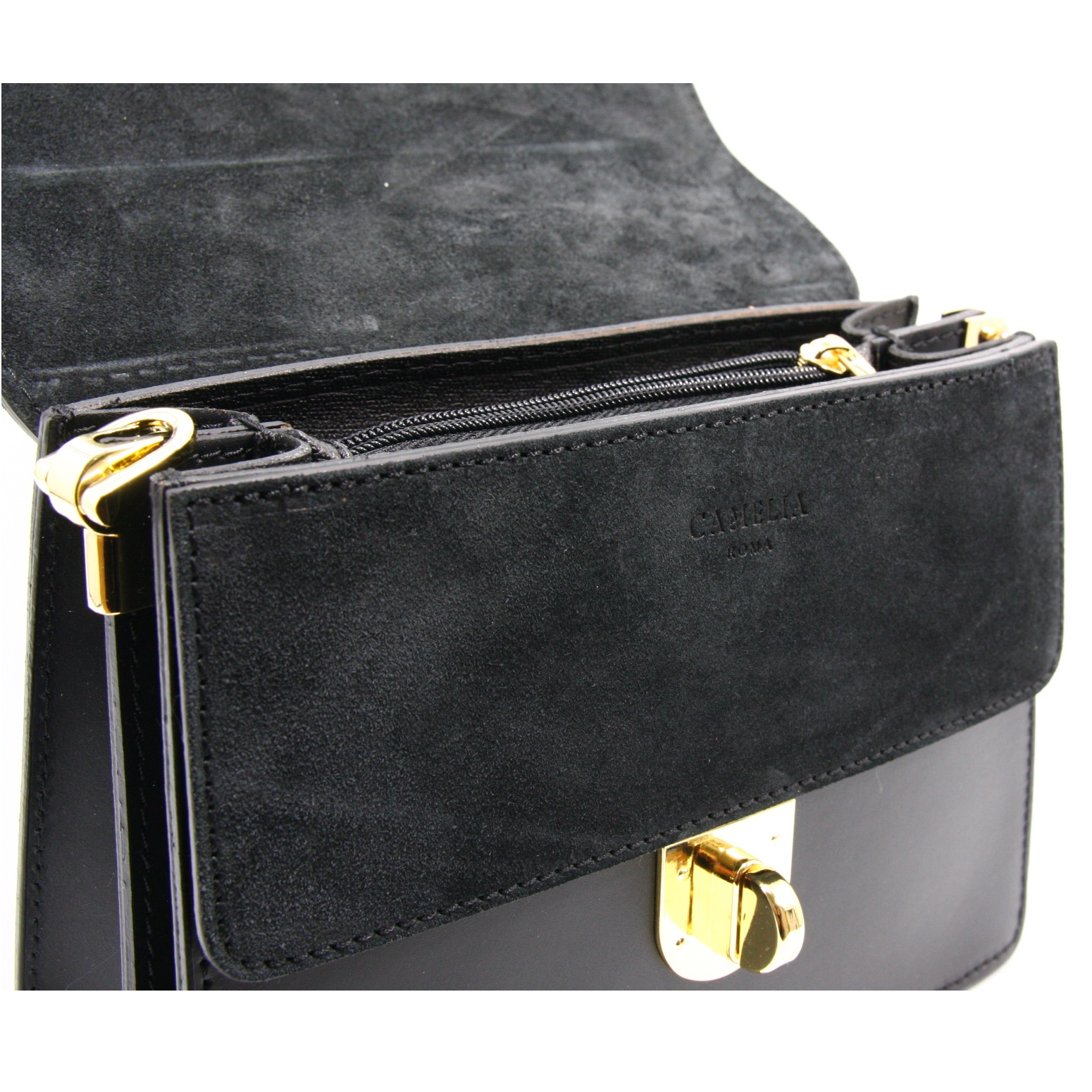 LEATHER AND SUEDE CROSSBODY BAG TRACOLLA_0044_NE COLOR: BLACK