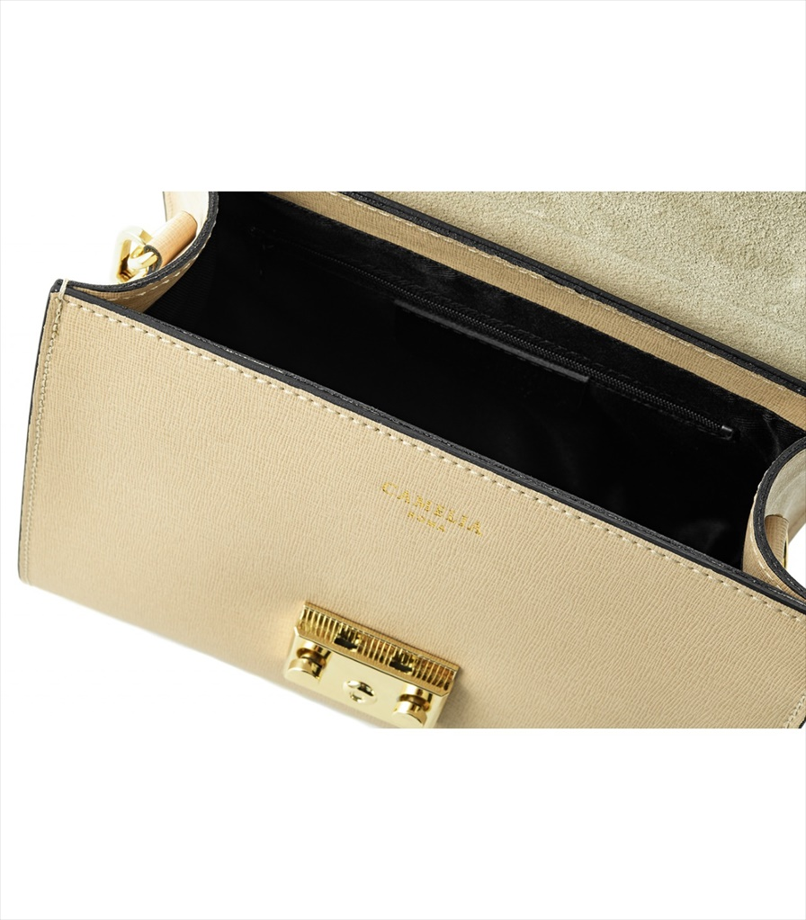 SAFFIANO LEATHER HANDBAG BORSAMANO_0011_BE COLOR: BEIGE