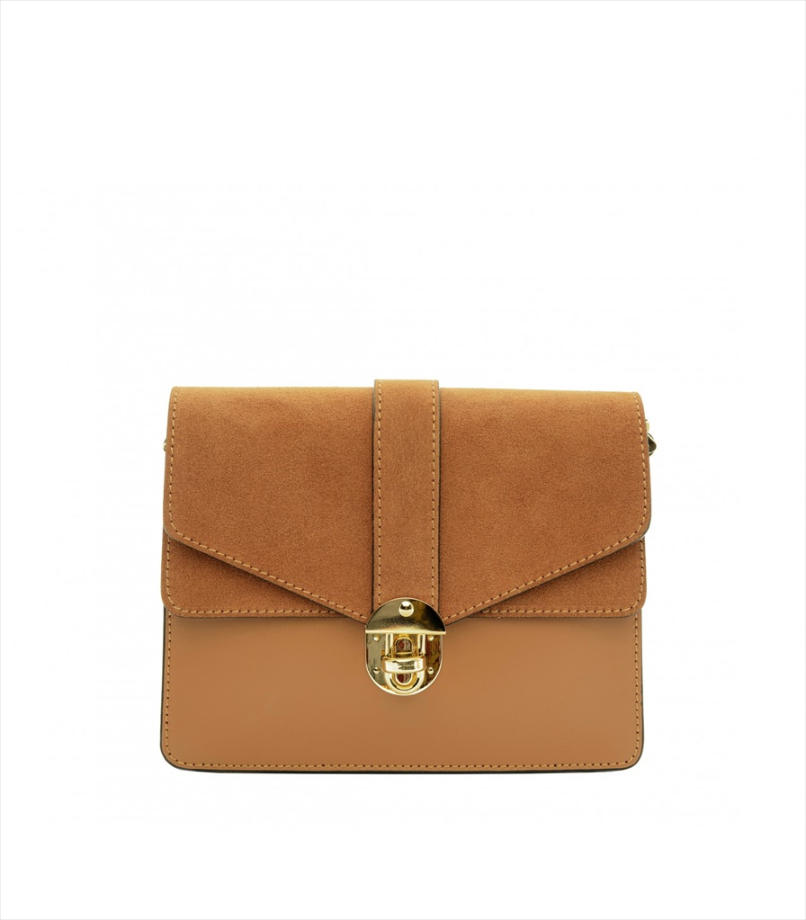 LEATHER AND SUEDE CROSSBODY BAG TRACOLLA_0044_CU COLOR: LIGHT BROWN