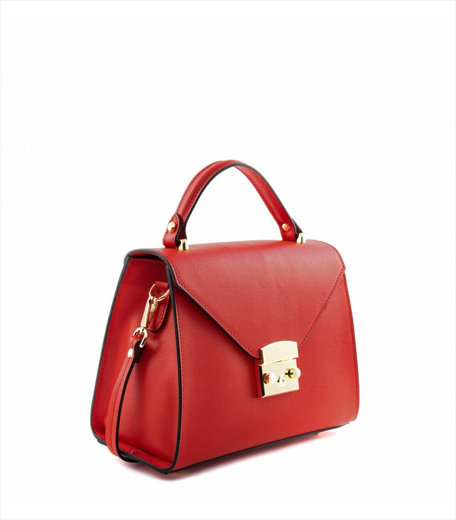 SAFFIANO LEATHER HANDBAG BORSAMANO_0011_RO COLOR: RED