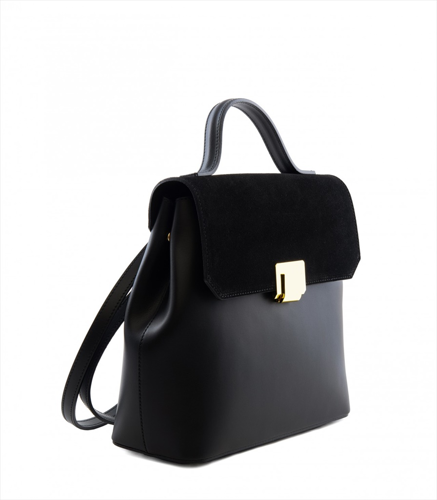 LEATHER AND SUEDE BACKPACK ZAINETTO_0015_NE COLOR: BLACK