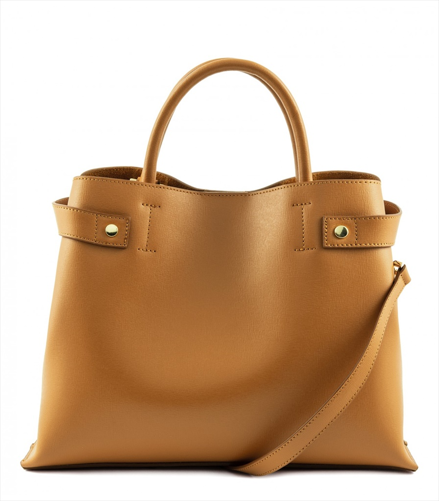 SAFFIANO LEATHER HANDBAG BORSAMANO_0037_CU COLOR: LIGHT BROWN