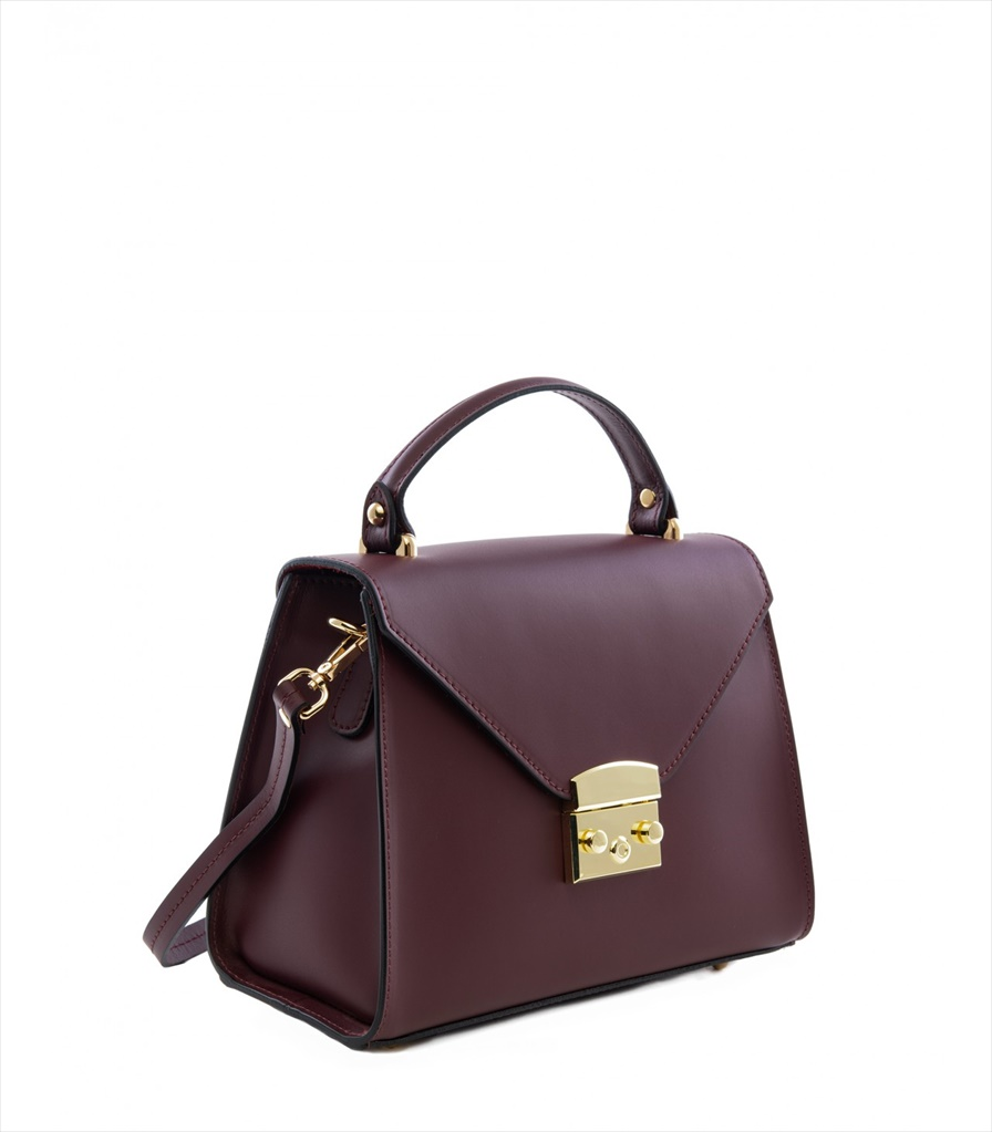 LEATHER HANDBAG BORSAMANO_0009_BO COLOR: RED WINE