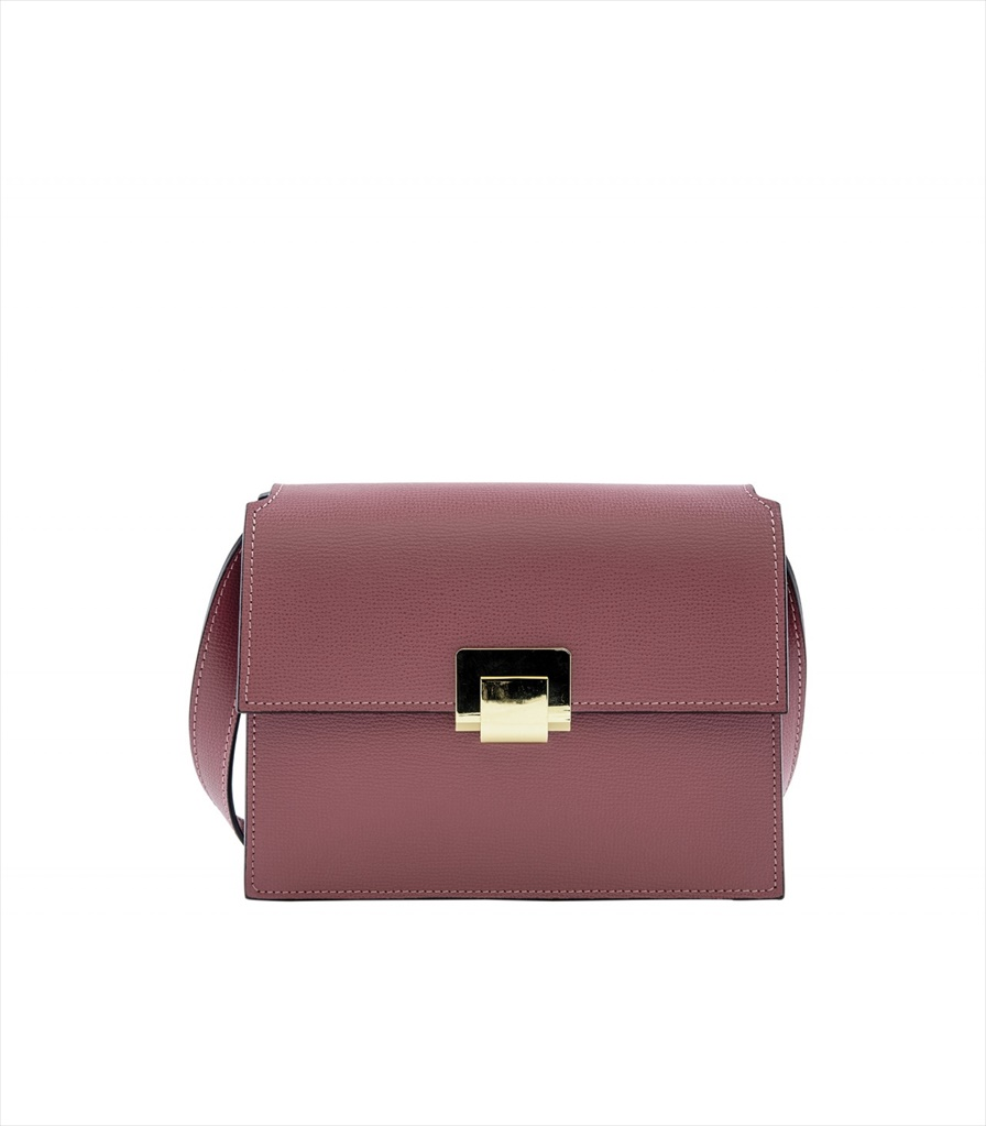 GRAINED LEATHER SHOULDER BAG TRACOLLA_0045_RA COLOR: FUCHSIA