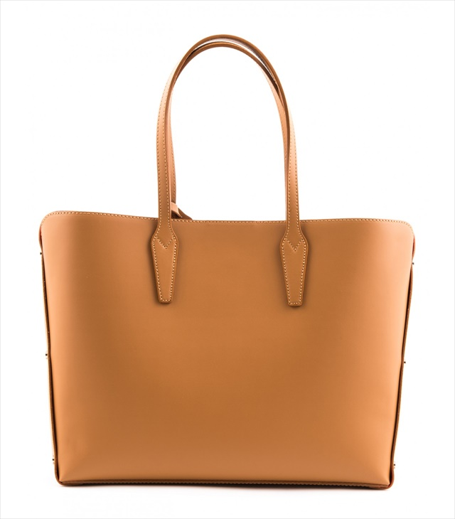 LEATHER TOTE BAG SHOPPING_0001_CU COLOR: LIGHT BROWN