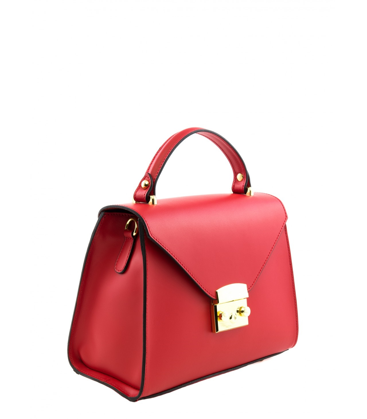 LEATHER HANDBAG BORSAMANO_0009_RO COLOR: RED