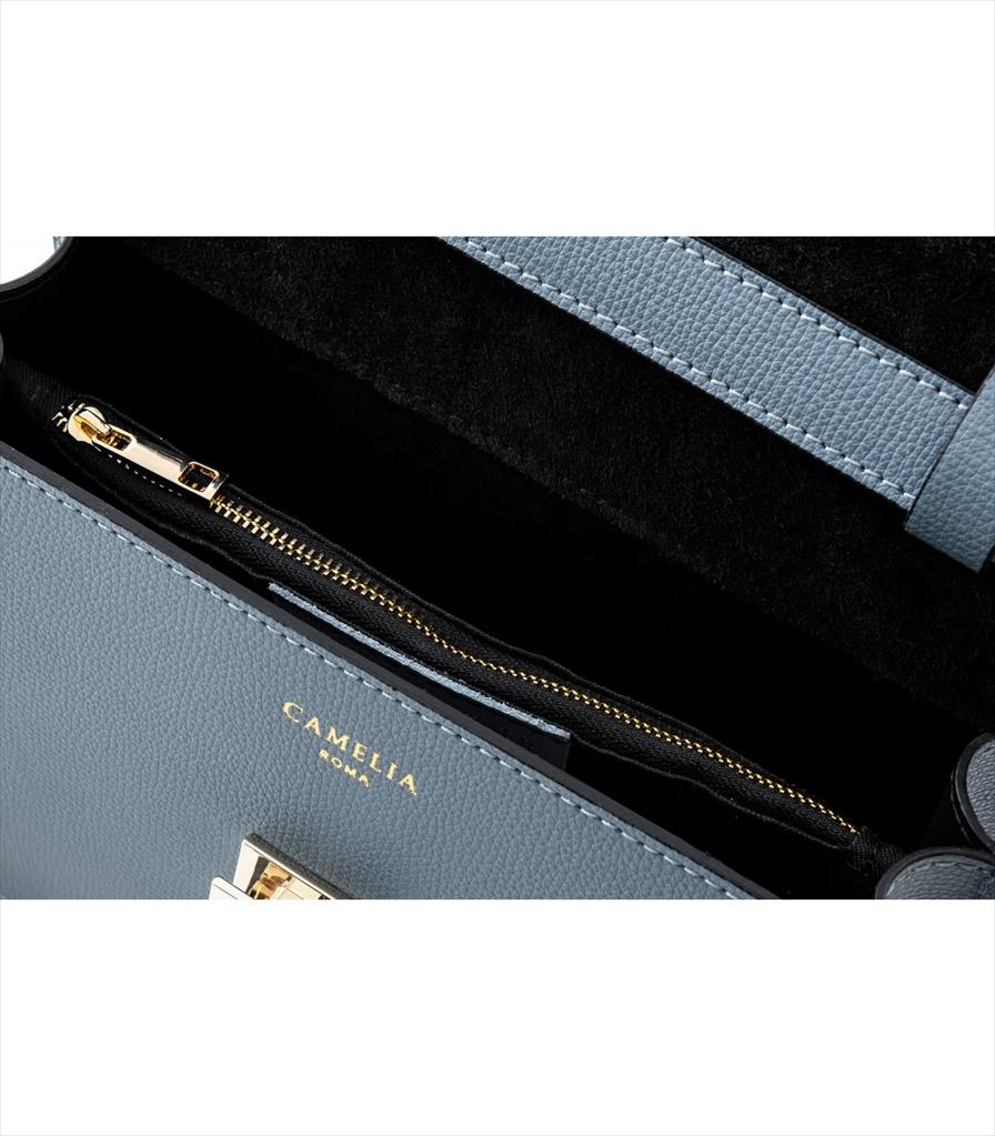 GRAINED LEATHER SHOULDER BAG TRACOLLA_0045_CL COLOR: LIGHT BLUE