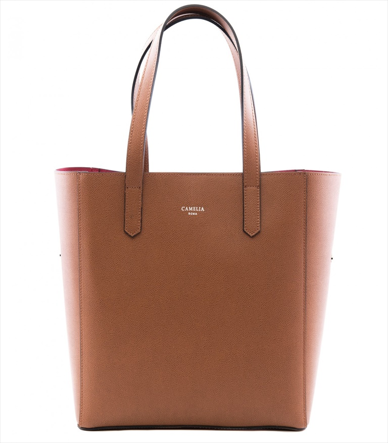 GRAINED LEATHER TOTE BAG SHOPPING_0012_CU COLOR: LIGHT BROWN