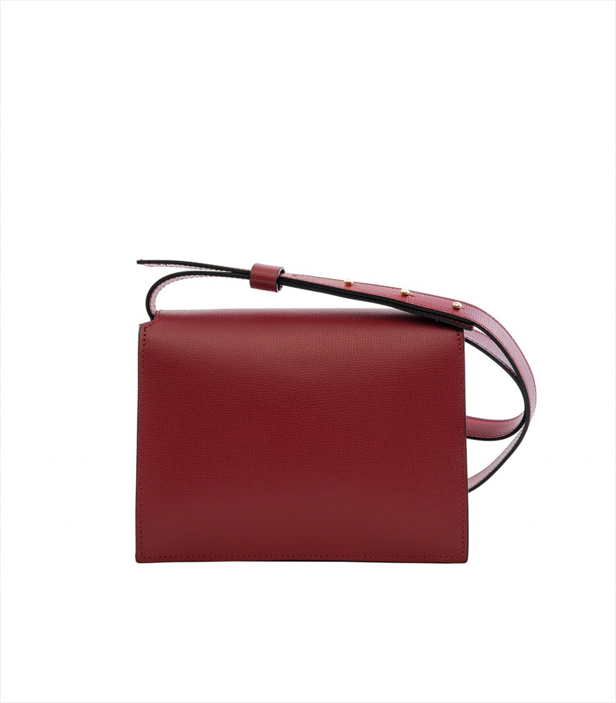 GRAINED LEATHER SHOULDER BAG TRACOLLA_0045_RO COLOR: RED