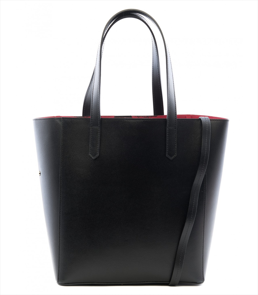 GRAINED LEATHER TOTE BAG SHOPPING_0012_NE COLOR: BLACK