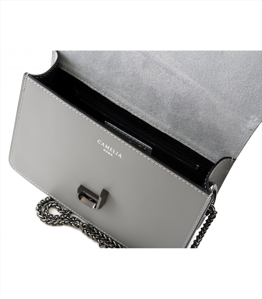 LEATHER CROSSBODY BAG TRACOLLA_0011_GR COLOR: GREY
