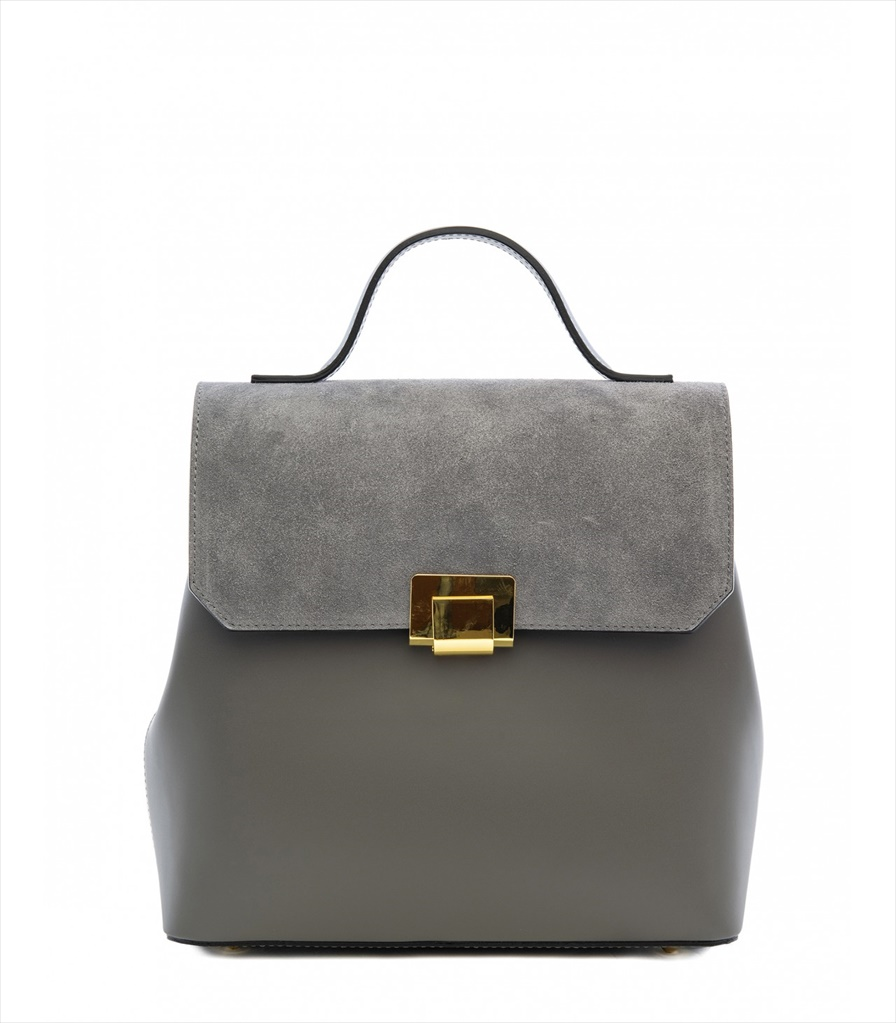 LEATHER AND SUEDE BACKPACK ZAINETTO_0015_GR COLOR: GREY