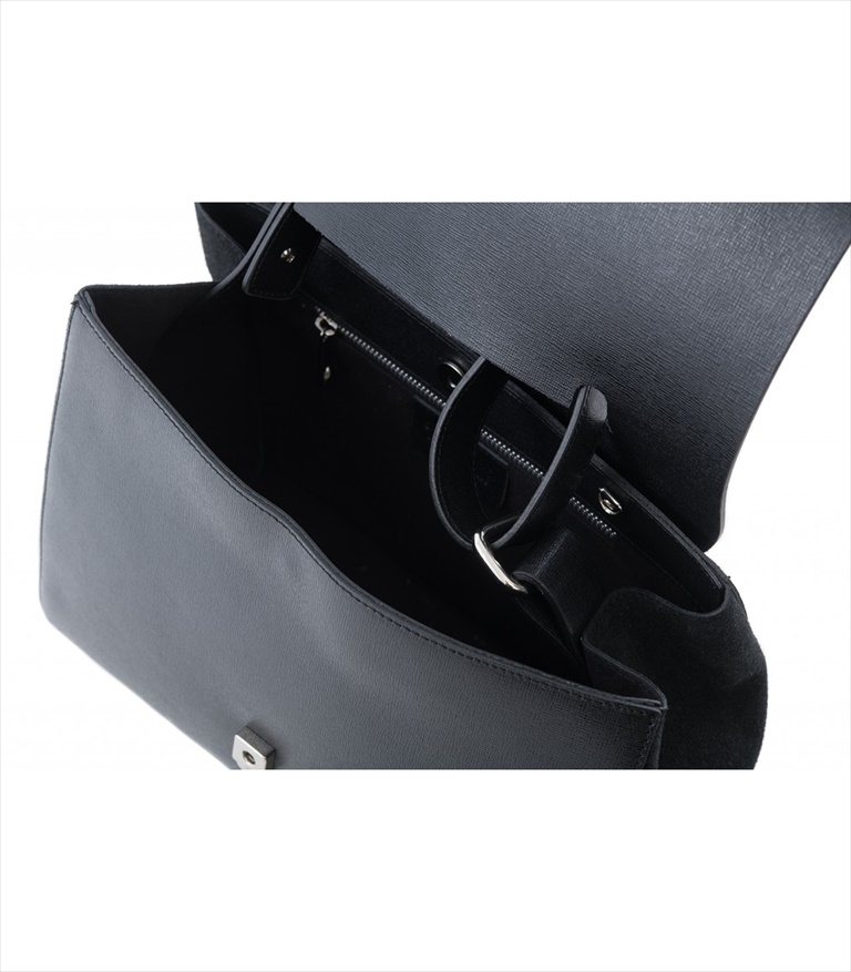 SAFFIANO LEATHER SHOULDER BAG BORSASPALLA_0010_NE COLOR: BLACK
