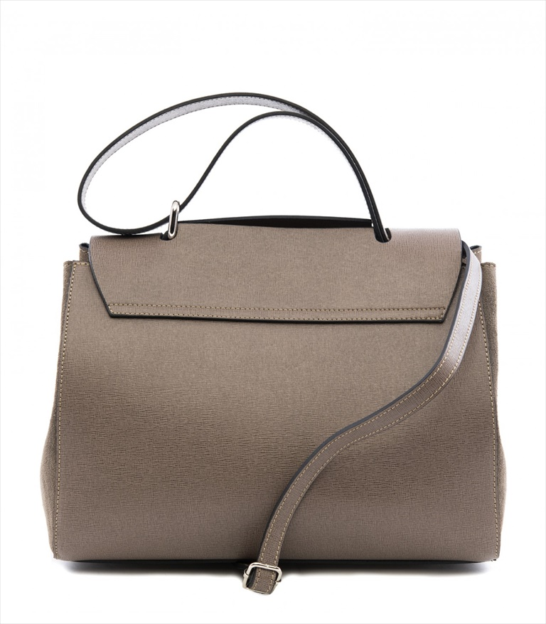 SAFFIANO LEATHER SHOULDER BAG BORSASPALLA_0010_TA COLOR: TAUPE