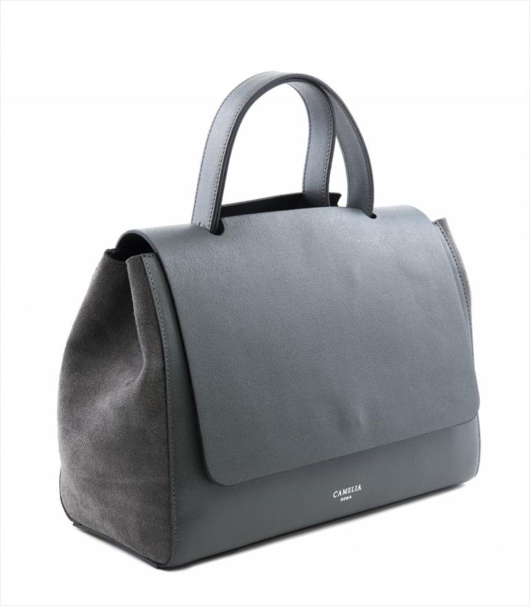 SAFFIANO LEATHER SHOULDER BAG BORSASPALLA_0010_GR COLOR: GREY