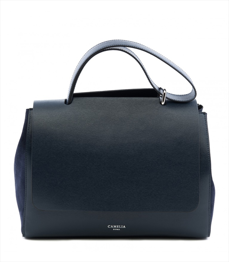 SAFFIANO LEATHER SHOULDER BAG BORSASPALLA_0010_BL COLOR: NAVY