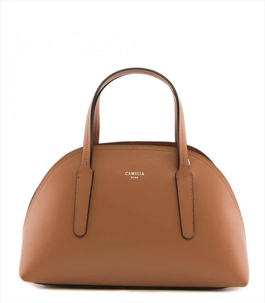 LEATHER HANDBAG BAULETTO_0007_CU COLOR: LIGHT BROWN