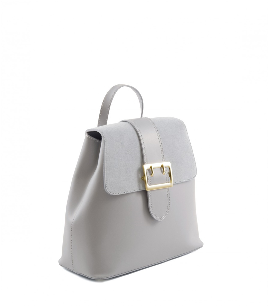 LEATHER AND SUEDE BACKPACK ZAINETTO_0016_GR COLOR: GREY
