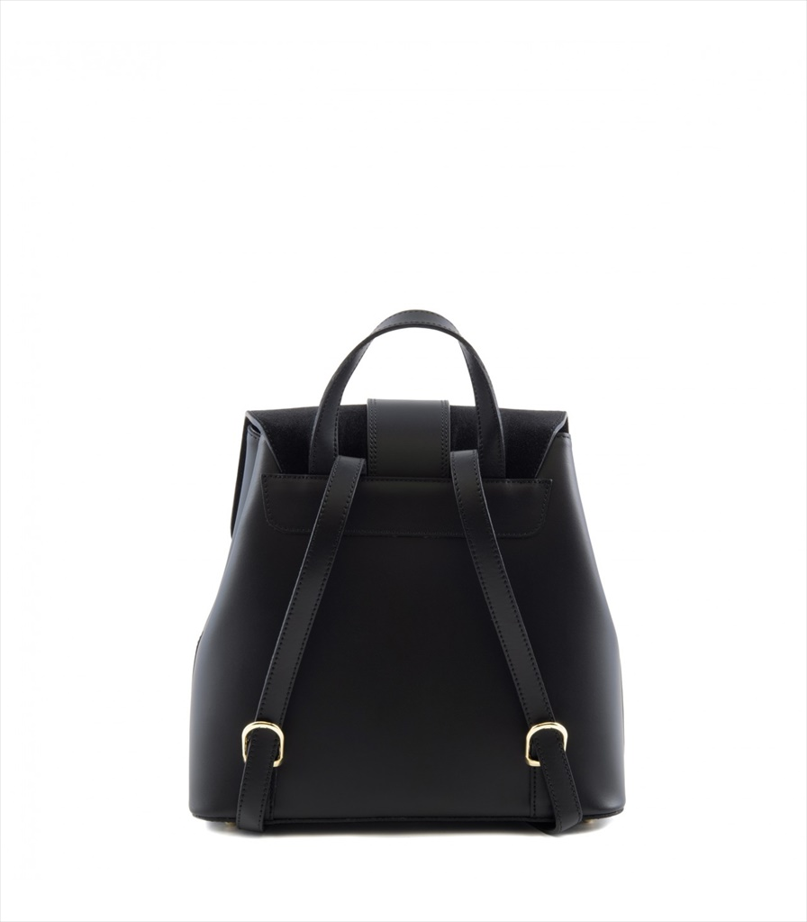 LEATHER AND SUEDE BACKPACK ZAINETTO_0016_NE COLOR: BLACK