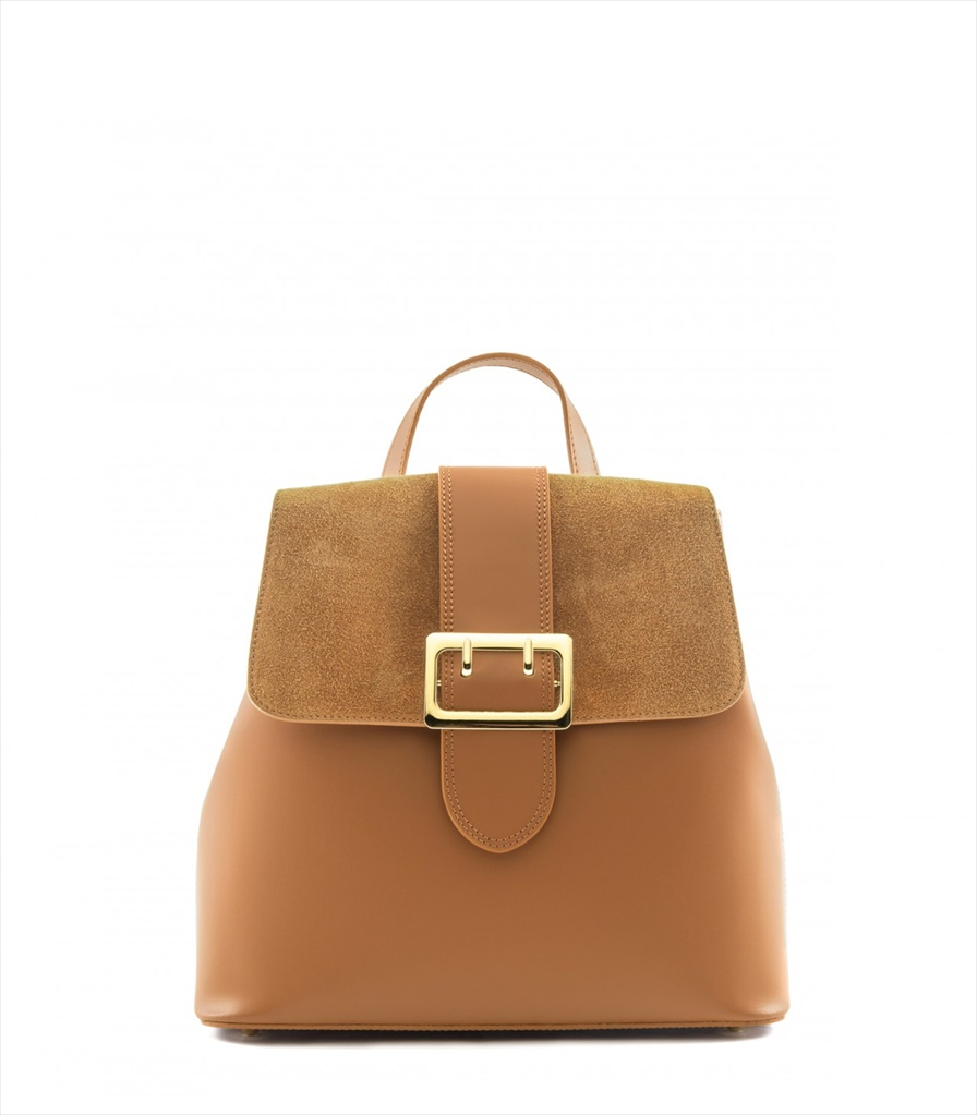 LEATHER AND SUEDE BACKPACK ZAINETTO_0016_CU COLOR: LIGHT BROWN