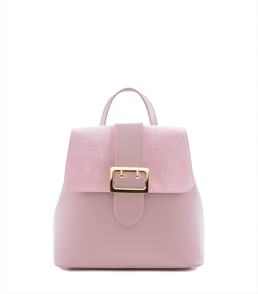 LEATHER AND SUEDE BACKPACK ZAINETTO_0016_RA COLOR: PINK