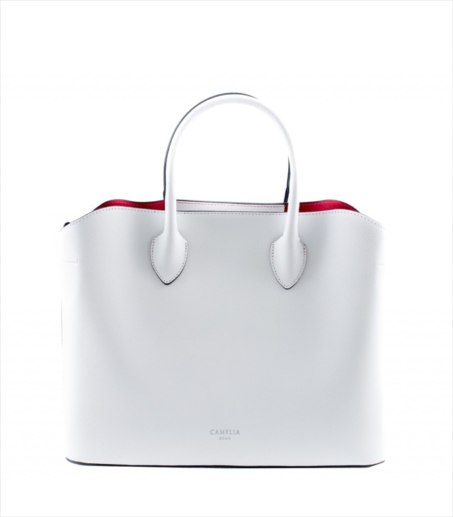 LEATHER HANDBAG BORSAMANO_0030_BI COLOR: WHITE