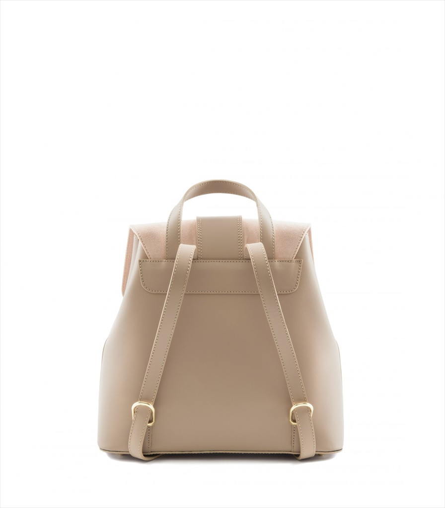 LEATHER AND SUEDE BACKPACK ZAINETTO_0016_CA COLOR: CAMEO