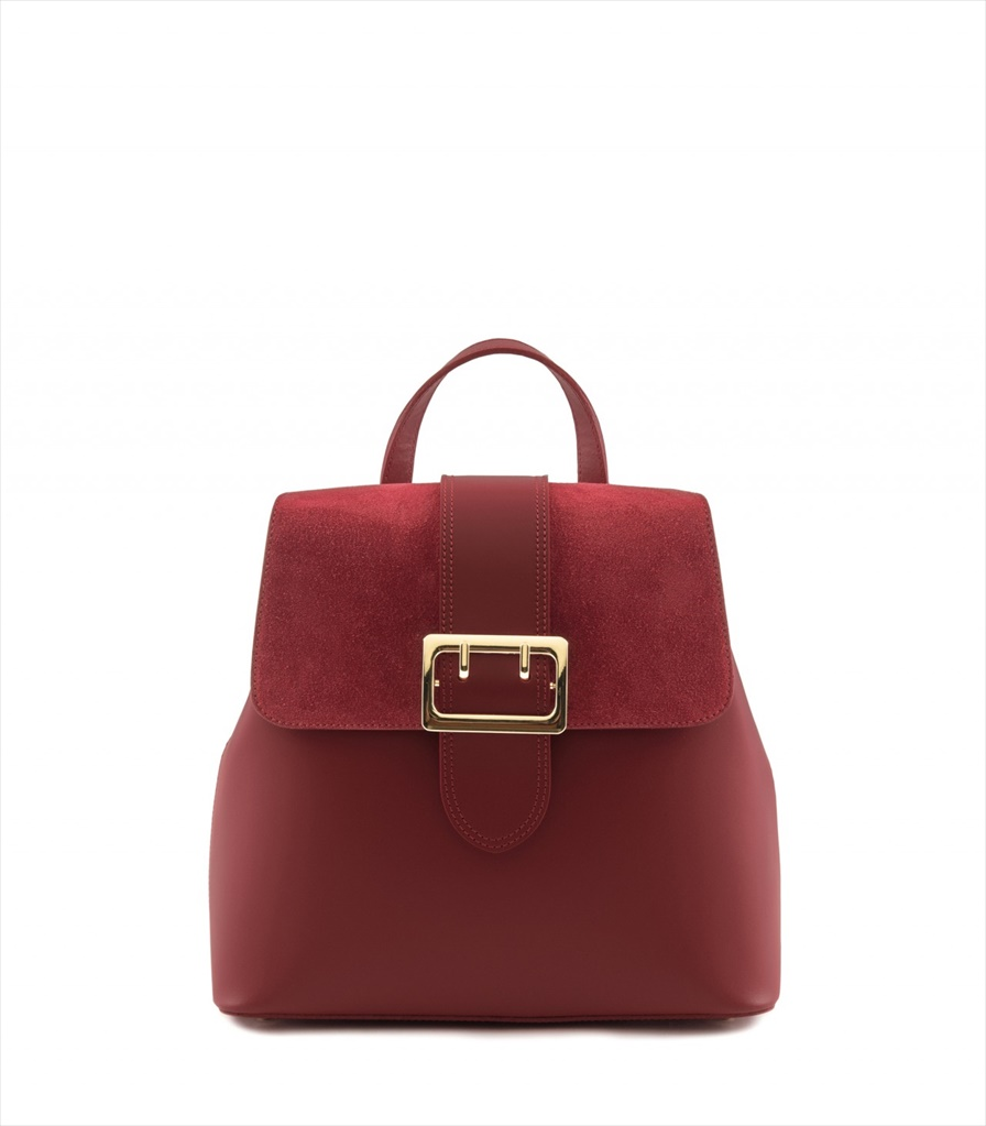 LEATHER AND SUEDE BACKPACK ZAINETTO_0016_RO COLOR: RED