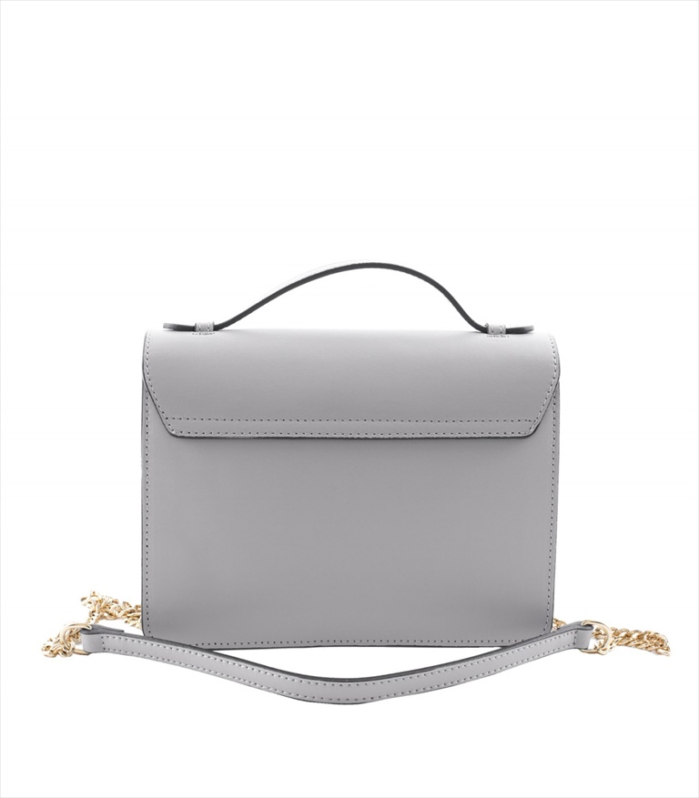 LEATHER AND SUEDE CROSSBODY BAG TRACOLLA_0031_GC COLOR: LIGHT GREY