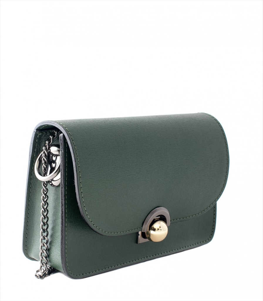SAFFIANO LEATHER SHOULDER BAG TRACOLLA_0036_VE COLOR: GREEN