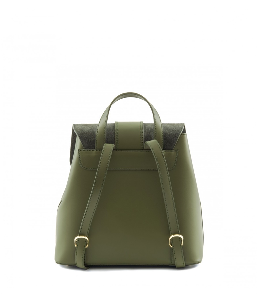 LEATHER AND SUEDE BACKPACK ZAINETTO_0016_VE COLOR: GREEN