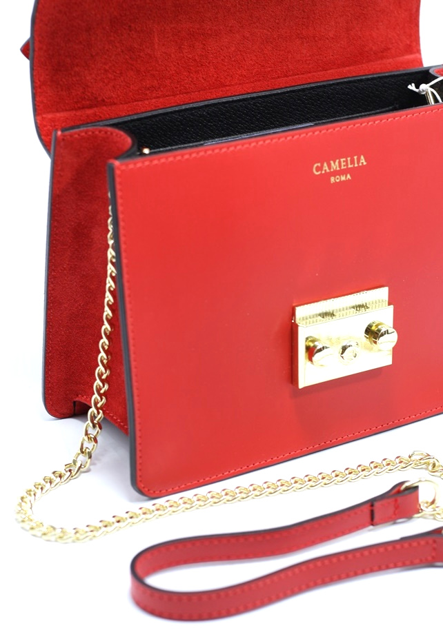 LEATHER AND SUEDE CROSSBODY BAG TRACOLLA_0031_RO COLOR: RED